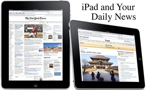 Jornal no iPad