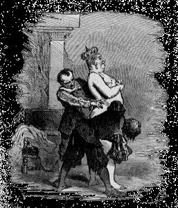 Ilustração de Bertall para o conto A Roupa Nova do Rei