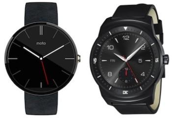 Moto 360 e LG G Watch R