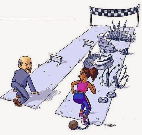 """Não é uma meritocracia, mas mantenha a calma! Ainda assim, você pode vencer! (ou """"a metáfora do jogo degolfe"""")"""