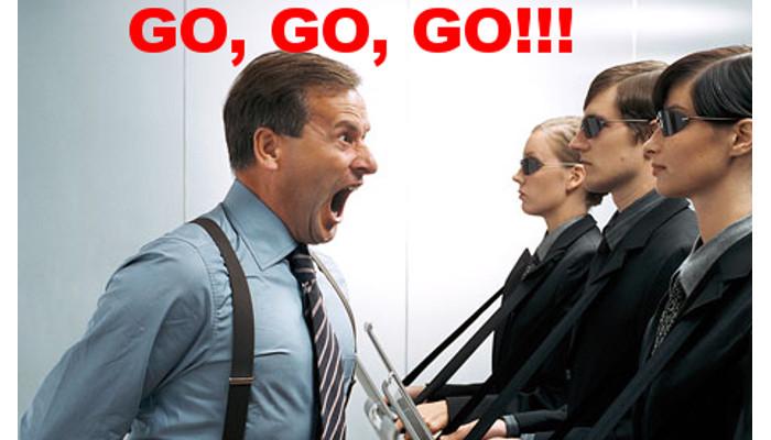 """Parem com o """"GO, GO,GO""""!"""